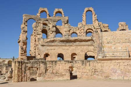 Roman amphitheater of El Jem on Tunisia