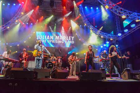 Lugano, Switzerland - 10 june 2016 - Julian Marley & The Uprising Band playing at Estival Jazz Lugano on Switzerland
