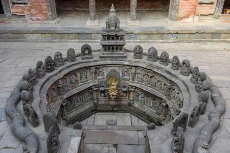 Old fountain at Patan near Kathmandu on Nepal