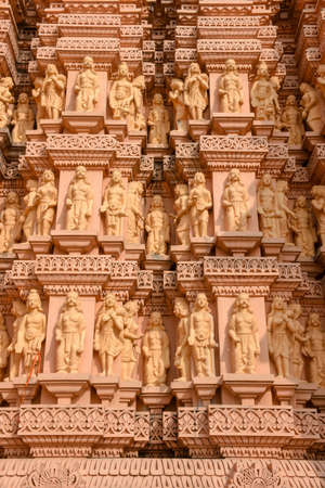 Architectural detail of Hindu temple Shashwat Dham near Sauraha in Nepal