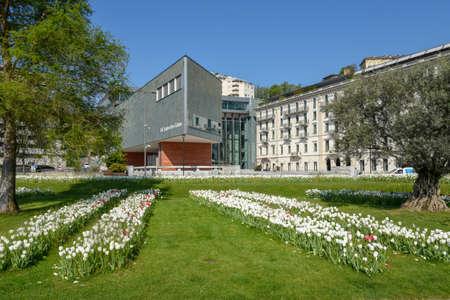 Lugano, Switzerland - 23 April 2020: LAC museum at Lugano on the italian part of Switzerland