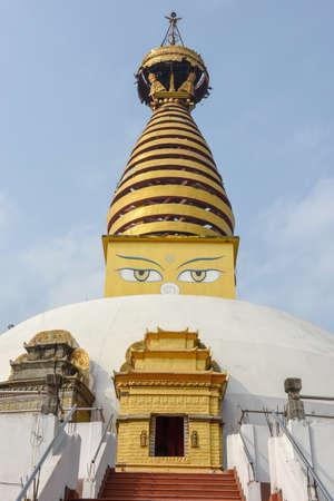 Buddhist monastery at the monastic zone of Lumbini in Nepal
