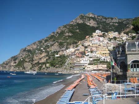 positano: Positano Beach View from La Scogliera