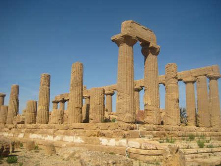 Temple of Juno in Agrigento, Sicily Stock Photo - 16942730