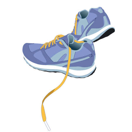 Trail Running Shoe Vector