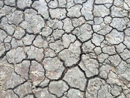 rough: The cracked ground, Dry, Soil texture, rainless Stock Photo