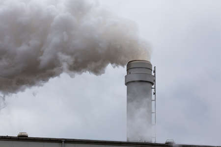 Close-up to industrial installations polluting the environment Reklamní fotografie