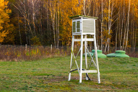 Weather station located in Granica, in Kampinos National Park