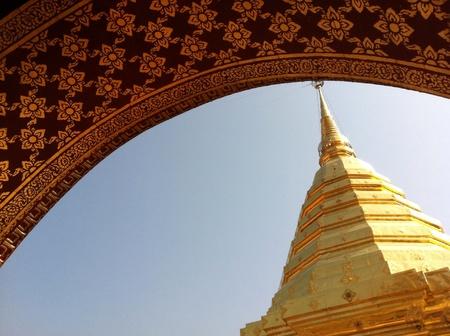 gold: The gold chedi at Doi Suthep, Thailand Stock Photo