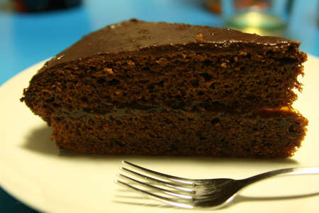 torte: a piece of sacher torte