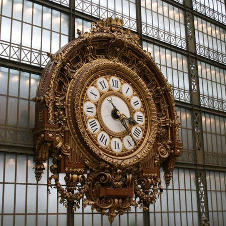 Clock of Musemo Orsay in Paris photo