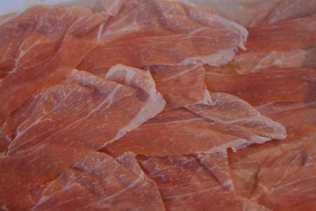 daniele: Italian smoked ham from San Daniele Stock Photo