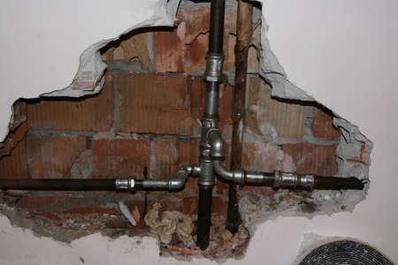 calor tubería rota Foto de archivo