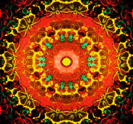 symmetrical kaleidoscope close-up Stock Photo - 8865719