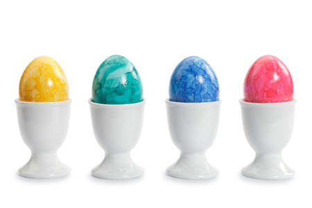 Colored eggs including individual  photo
