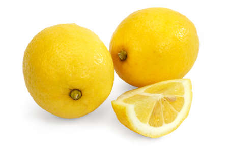 Lemon isolated against a white background