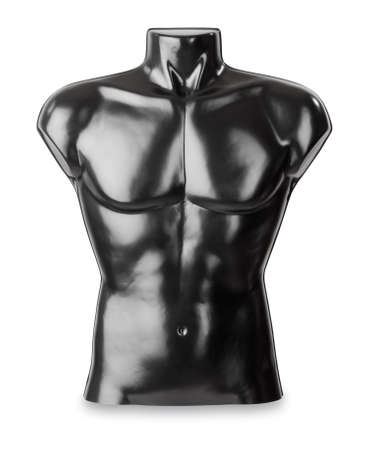 unclothed: Black male for clothing and fashion, studio shot against a white background including clipping path