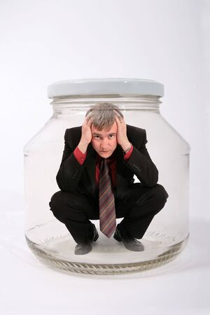 businessman in the jar Stock Photo - 1482380