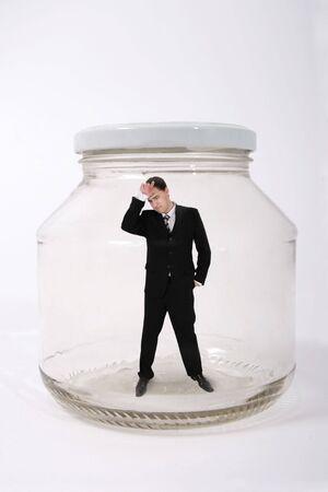 businessman in the jar Stock Photo - 1482311