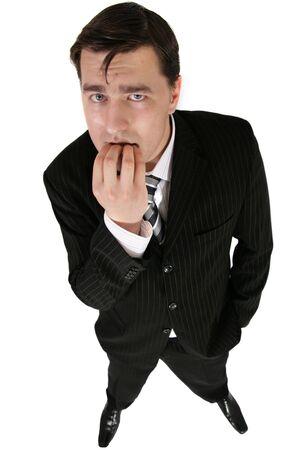 depressive: sad young businessman