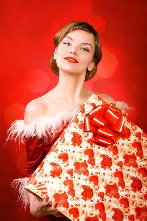 christmas girl Stock Photo - 2058125