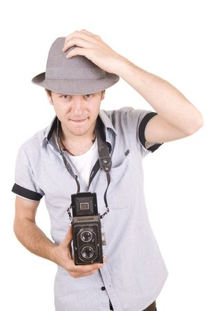 guy with hat photo