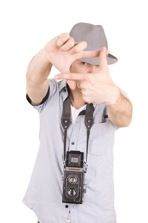 guy with camera photo
