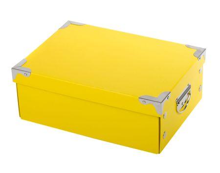 fancy yellow gift box Stock Photo - 5585168