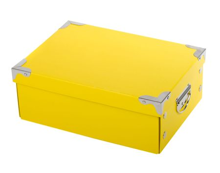 fancy yellow gift box Stock Photo - 5585168