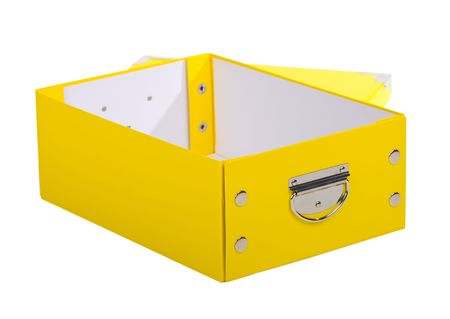 fancy yellow gift box Stock Photo - 5600560