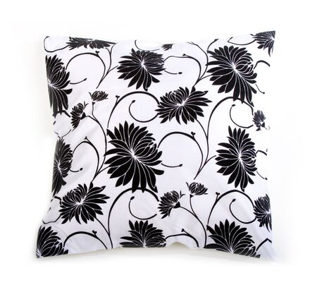 comfy: comfy  pillow over white background Stock Photo