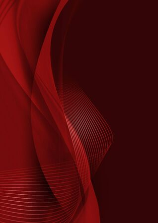 red wave: abstract artistic red 3-d wallpaper