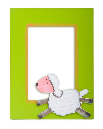 glamourous green  photo frame with a sheep on it photo