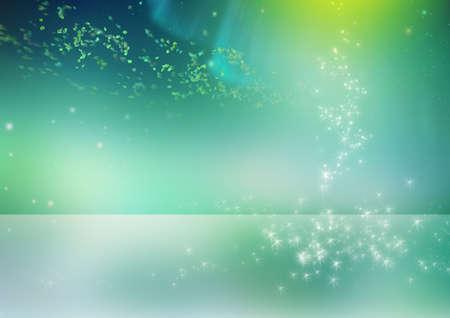 Blue verbeelding in blauwe en groene tinten