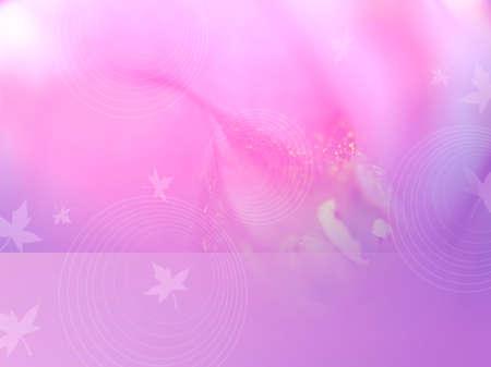 Roze romantische verbeelding met bladeren en bloemblaadjes