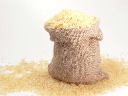 rice in the bag  Standard-Bild