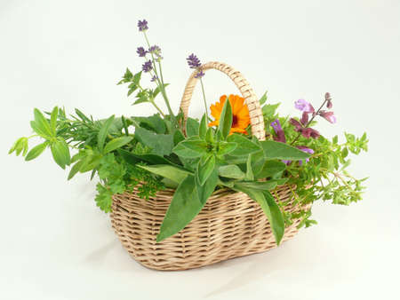 herbs and basket