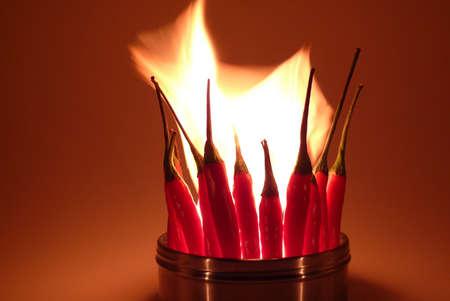 Burning Red Hot Chilis photo