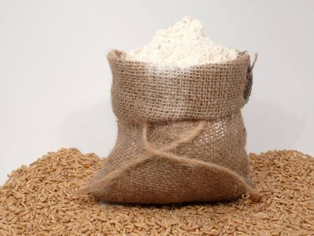 full grain flour photo