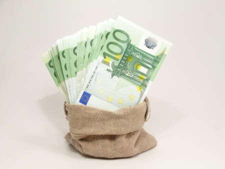 coined: Euros Stock Photo
