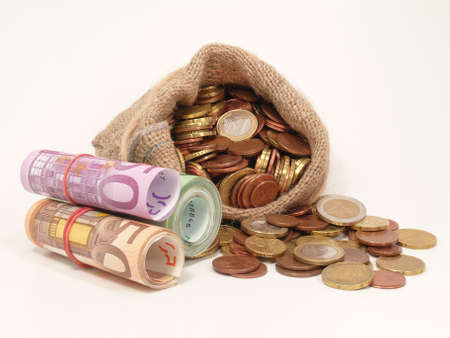 seem: many euros Stock Photo