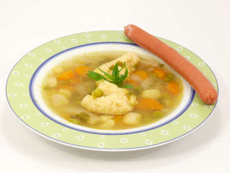 free plates: vegetable soup