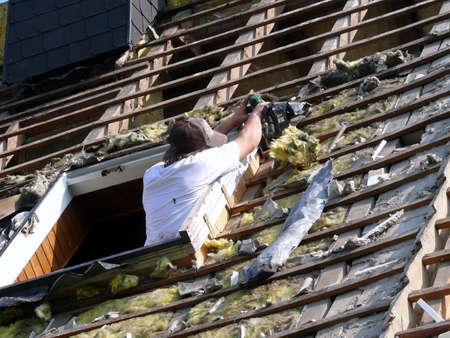 roof renovation  Stock Photo