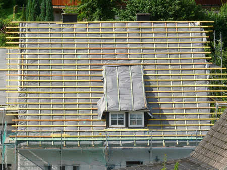 roof renovation  Standard-Bild