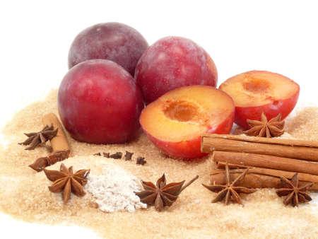 ingredients for fruit jam photo