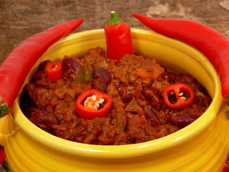 satisfying: hot chili con carne