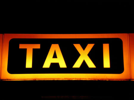 taxi sign Imagens