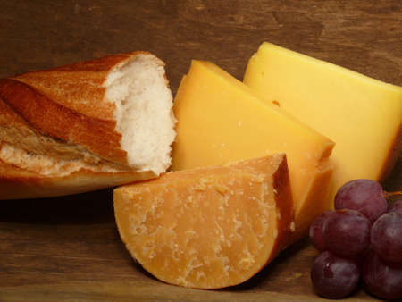maturity: hard cheese in three stages of maturity