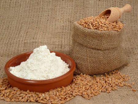 Grain and Flour Stock Photo