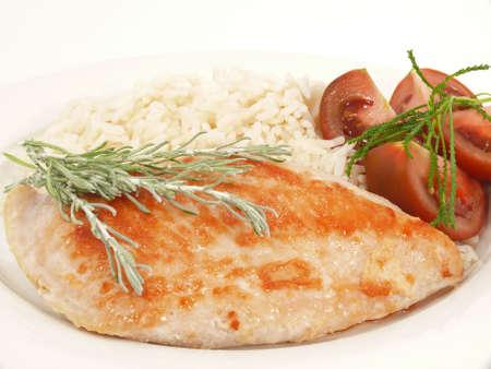 Türkei-Essen mit Reis  Standard-Bild - 7141608